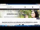 BeStableCam Horizon HG3 Action Camera Gimbal Calibration Tutorial