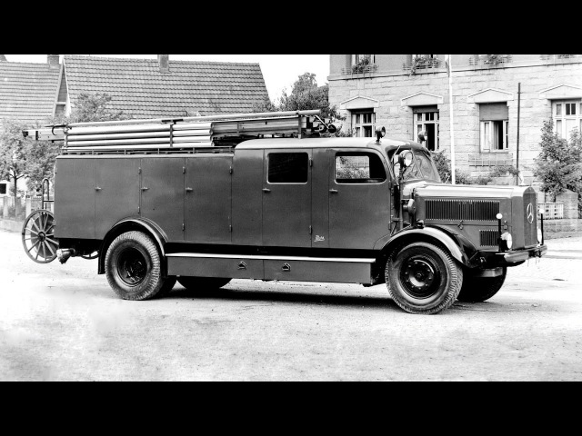 Mercedes Benz L 4500 F Loschfahrzeug Metz LF 25 L 303 1949