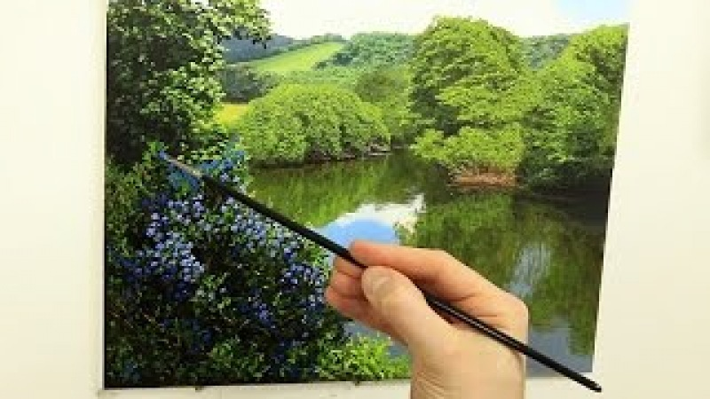 What Brushes To Use For Landscape Painting | Oil Painting Tutorial