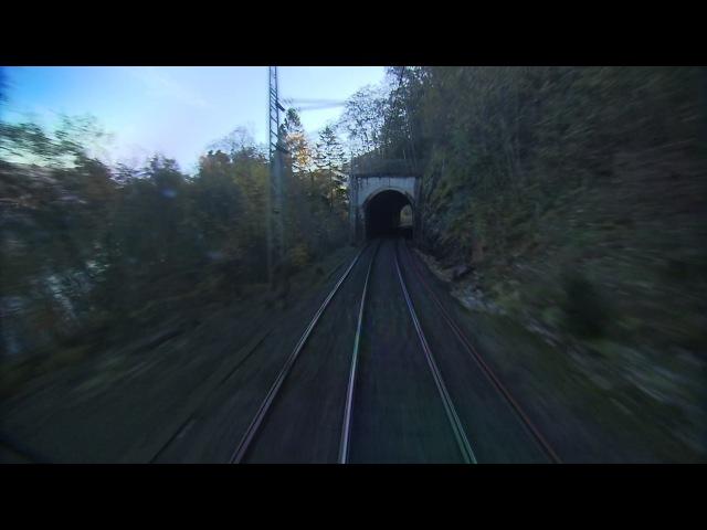 (NRK) Bergensbanen minutt for minutt Bergen - Oslo (Train) Поезд (Fuul HD 50 fps)