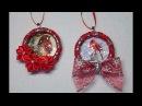 DIY~Beautiful Wrapped Ribbon Christmas Card Wreath Ornaments!