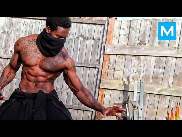 REAL NINJA with Crazy Skills Giga Uguru Muscle Madness