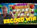 RECORD WIN Wonky wabbits 15€ bet Big win Casino Huge Win WILDLINE