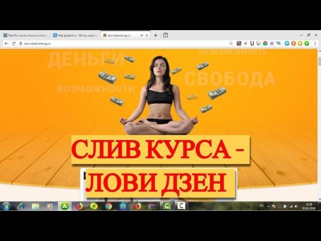 Лови Дзен слив курса. Обучающий видеокурс по заработку на Яндекс Дзен. Заработок без вложений.