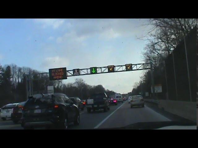 Traffic on I-66 in Virginia Tai nan ket xe I66 Blocked 2 lane