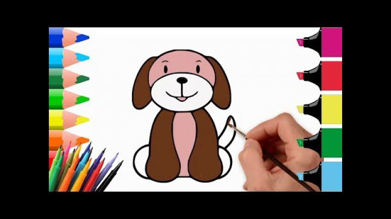 How to draw a Dog Easy step by step | how to draw animals for kids | drawing lessons for kids