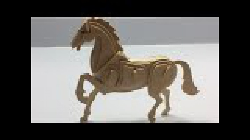 Awesome wooden HORSE, Woodcraft Construction Kit horse