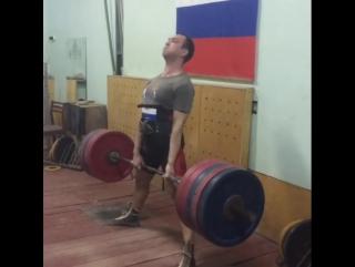 Андрей Костенко, тяга 250 кг на 3 раза