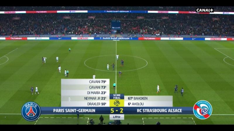 PSG vs Strasbourg 5-2