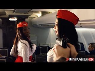 Aletta Ocean, Nicolette Shea - Fly Girls Final Payload Scene 2 [Big Tits BlowJob Blonde Brunette Fake Tits HD Porn 2017]