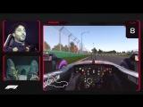 Дэна Риккардо посадили в симулятор и заставили гнать по трассе в Мельбурне.