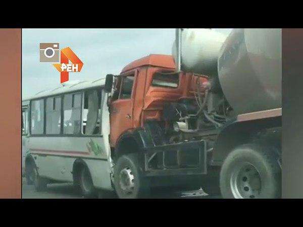 В результате страшного ДТП с автобусом и бензовозом под Ростовом есть жертвы