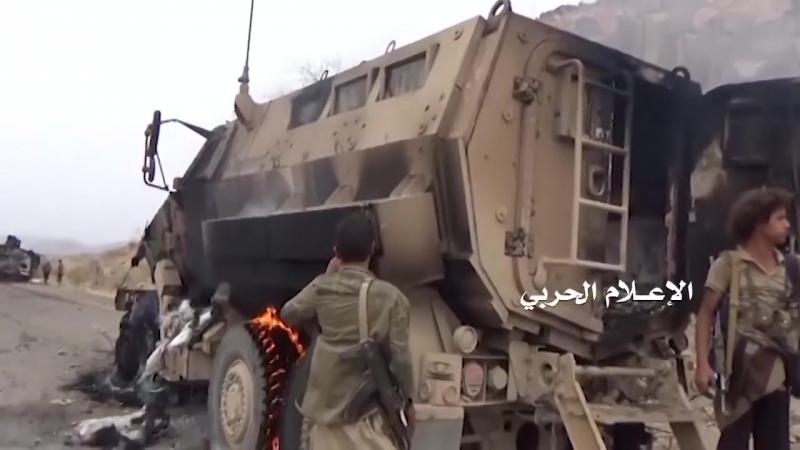 Война в Йемене Хуситы разбили колонну саудитов 2018