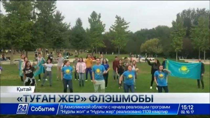 Қазақстандық студенттер туған елге арналған флешмоб өткізді
