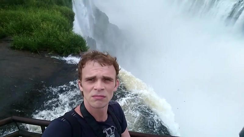Водопад Дьявольская глотка залил мой телефон и селфи-палку. Игуасу, Аргентина-Бразилия