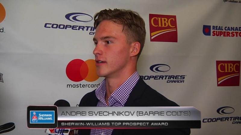 Sherwin-Williams Top Prospect Award Andrei Svechnikov – CHL