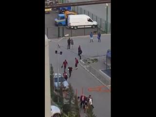 Грузины прогнали обнаглевших негров со стадиона
