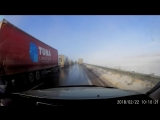 Incredibly Close Call - Truck Driver Saves It