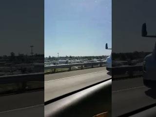 Прототип Tesla Semi в районе Sacramento, California
