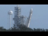 Space X First Falcon Heavy Test Vehicle Raised Vertical On Pad Timelapse 16x 32x