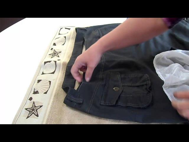Как ушить брюки в поясе (посадить брюки по талии). How to reduce the trousers at the waist.