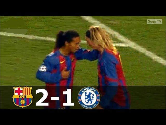 Barcelona vs Chelsea 2 1 UCL 2004 2005 1st Leg Full Highlights