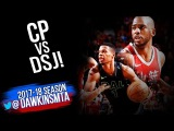 Chris Paul vs Dennis Smith Jr PG Duel 2018.2.11 - DSJ With 16-11 Asts, CP With 25-9-8!  FreeDawkins