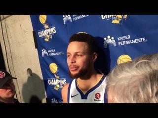 Stephen Curry Postgame Interview / GS Warriors vs Jazz / Jan 30