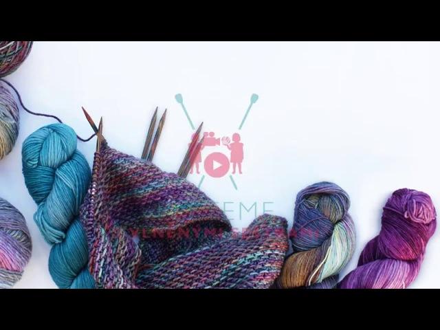 Pletařské techniky - fair isle - zaplétání dlouhých úseků přetahované příze