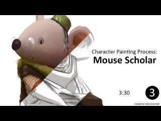 Mouse Scholar Painting Process