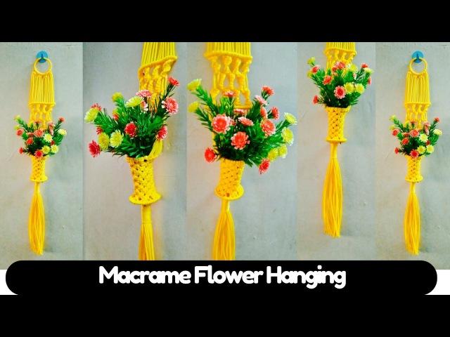 DIY Small macrame tutorial of Macrame Flower hanging | Macrame Art