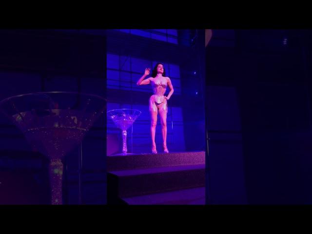 Burlesque Queen Dita Von Teese - Martini Glass - Philipp Plein Fashion Show @NYFW @DitaVonTeese