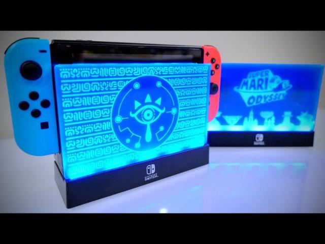 SPECIAL Nintendo Switch LIGHT UP DOCK [Zelda Breath of the Wild Super Mario Odyssey]