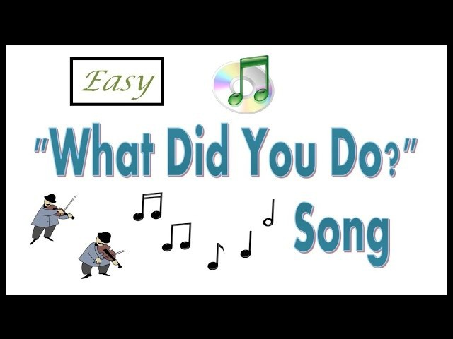 How To Teach The Past Simple -- Past Simple Song