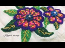 Hand embroidery design Multi colour check flower Flower hand embroidery Keyas craze 150