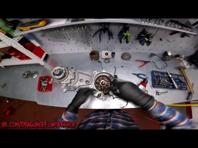 Замена коренных подшипников двигателя Suzuki / Часть 1 / Разборка, располовинивание