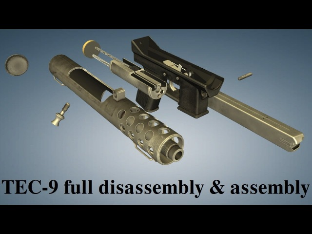 Intratec TEC-9: full disassembly assembly