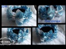 МК резинка на гульку (снегурочка)канзаши. MK rubber band for gulk (snow maid) Kanzash.