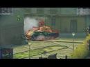 World Of Tanks: Blitz. T49 П 3. Миддлбург. (Бой 17)