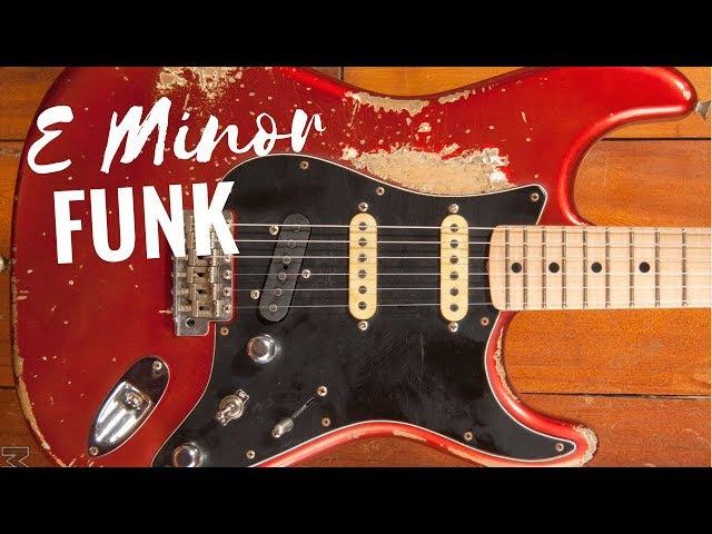 Funky Groove Guitar Backing Track Jam in Em
