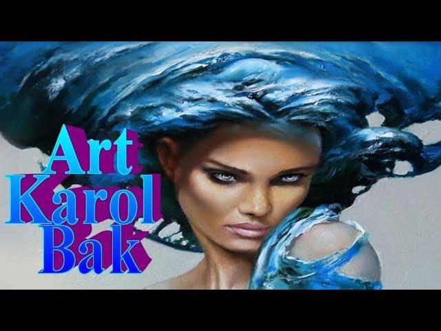 Art by Karol Bak | Женщина-Ангел в картинах художника Кароль Бак | HD