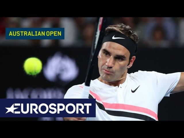 Roger Federer v Marin Čilić Highlights | Australian Open 2018 Final | Eurosport