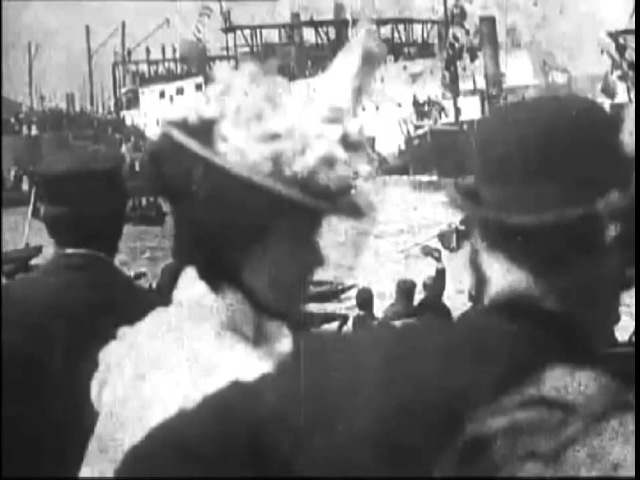 The Launch of H.M.S. Albion (1898) - Early Disaster Film - Robert W. Paul