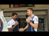 Williams TV US GP with Karun and Paul