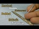 ZARDOSI DOUBLE COLOURED PADDED LOAD STITCH TUTORIAL | Zardosi padded zigzag stitch | Zardosi work