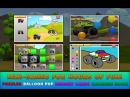 Monster Trucks Game for Kids 2 car race puzzle coloring book baloons Action Adventure For children