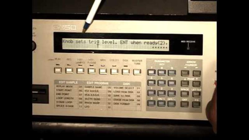AKAI S950 Sampling for E-MU SP1200