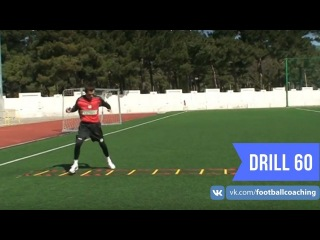 Football coaching video - soccer drill - ladder coordination (Brazil) 60