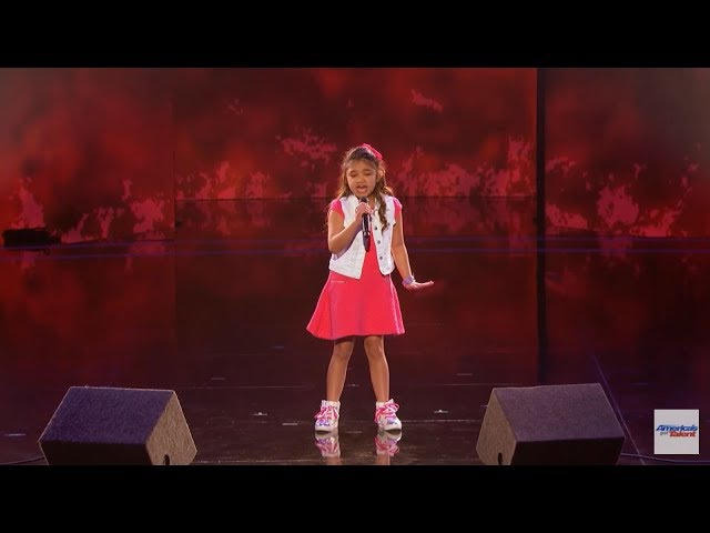 Angelica Hale ❥ 9-Year-Old Earns Golden Buzzer From Chris Hardwick - Americas Got Talent 2017 HD