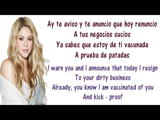 Shakira - Te Aviso, Te Anuncio Objection Lyrics English and Spanish - Translation Meaning